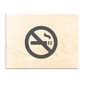 ΞΥΛΙΝΗ ΣΗΜΑΝΣΗ NO SMOKING