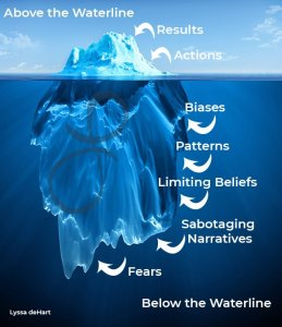 What is below the waterline that leads to negative narratives and where you need to explore your snapshot stories.
