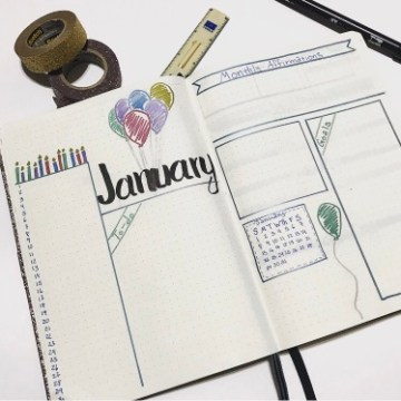 Bullet Journal Monthly Template