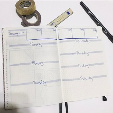 Weekly Bullet Journal Template