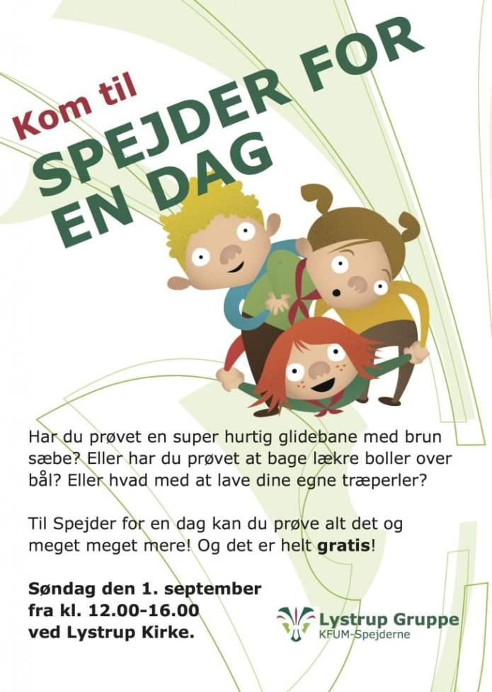 Plakat Spejder for en dag