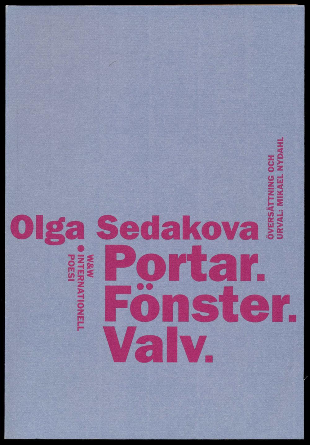 Olga Sedakova Portar fönster valv Wahlström & Widstrands serie med internationell poesi