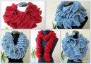 crochet ruffle scarf crochet pattern