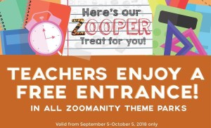 Zoomanity Group: Teachers Month Promo