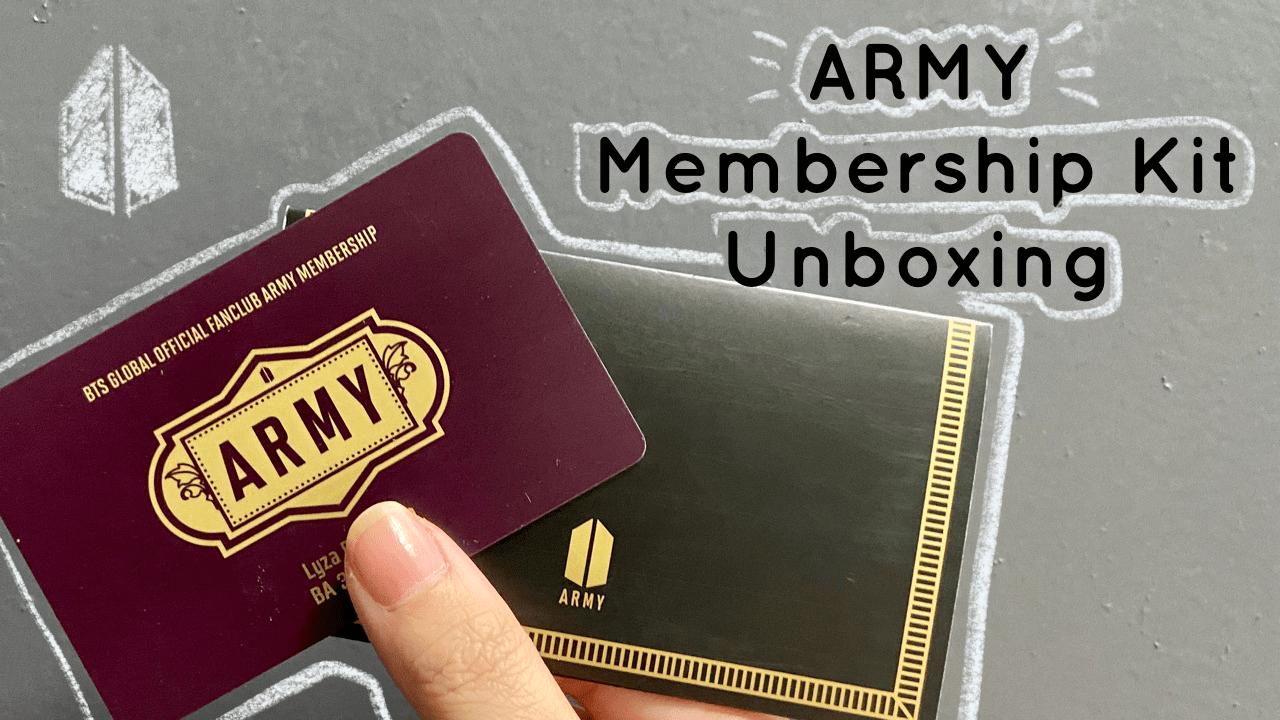 [VLOG] ARMY Membership Kit Unboxing + Paano Ako Naging ARMY