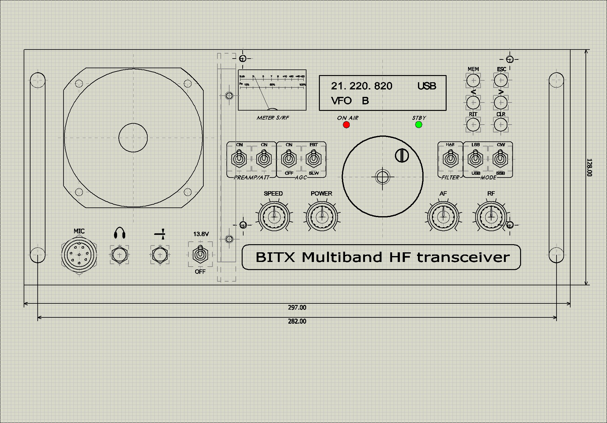Bitx Multiband Metal Enclosure