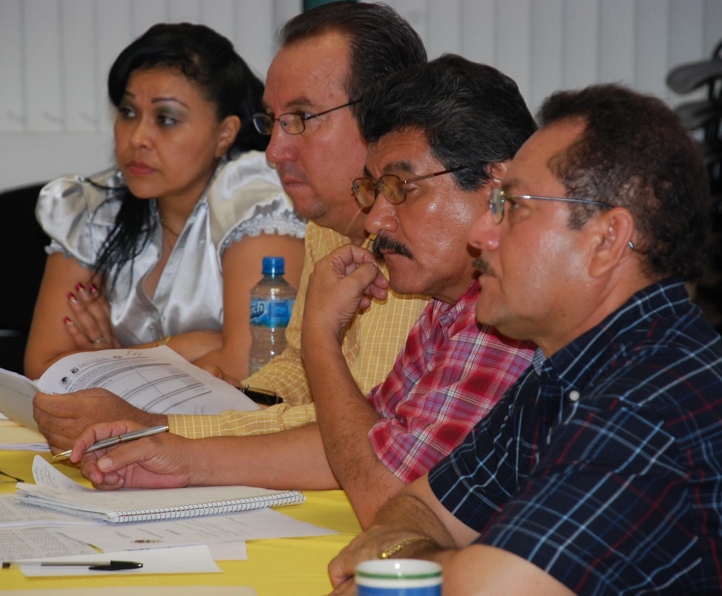 Esther Mendoza, Roberto Campos, Manuel Barreras y Mariano Ortega