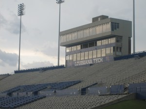 "Joe Aillet Stadium home of Louisiana Tech Bulldogs Football, May 20, 2010.  (""Another look at Joe Aillet Stadium IMG 3708"" by Billy Hathorn - Own work. Licensed under Creative Commons Attribution-Share Alike 3.0 via Wikimedia Commons - http://commons.wikimedia.org/wiki/File:Another_look_at_Joe_Aillet_Stadium_IMG_3708.JPG#mediaviewer/File:Another_look_at_Joe_Aillet_Stadium_IMG_3708.JPG)"