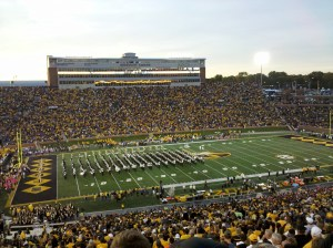 Marching Mizzou entertains the homecoming crowd before the Florida game.
