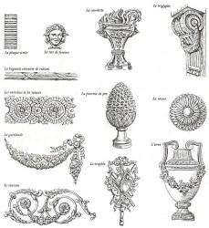 motifs louis xvi neoclassical styles architecture ornement early decoratifs meuble mobilier