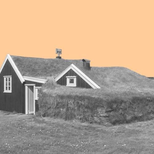 Традиционный торфяной дом Исландии