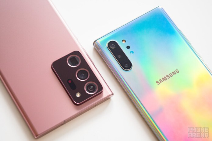 Samsung Galaxy Note 20 Ultra Vs Galaxy Note 10 Phonearena