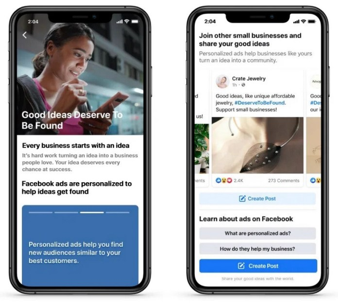 Facebook wants to continue to promote small businesses - With Apple's new iOS feature expected to hurt small firms, Facebook aims to reverse the damage