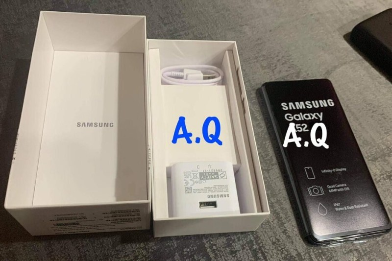 Samsung Galaxy A52 poses for camera ahead of official unveiling