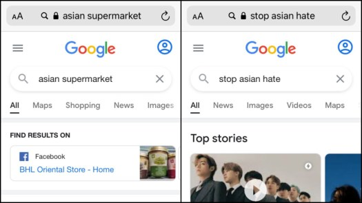 Success! - Apple's Safari doesn't allow people to search the word 'Asian', but why?