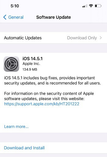 A week after dropping iOS 14.5, Apple releases the iOS 14.5.1 security update - Apple iPhone users need to install this security update now or face losing control of their phones