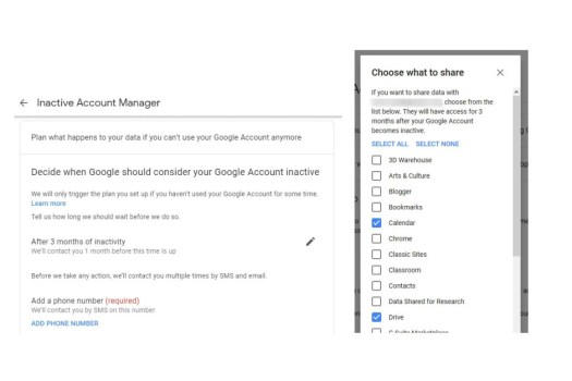 What happens to your Google account when you die?
