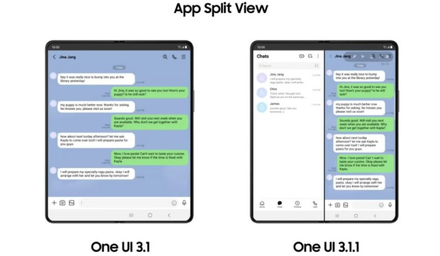 App Split View - Samsung's new One UI 3.1.1 brings enhanced foldable experiences to Galaxy Z series users
