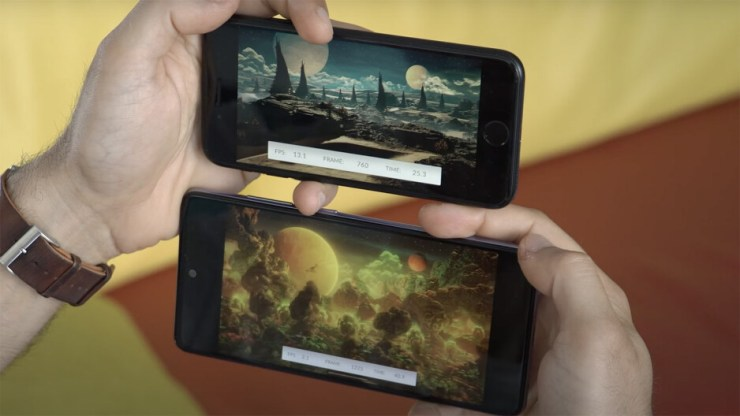 iPhone SE at the top averages more than 8fps, while A52 at the bottom runs at 2-3fps on the 3D Mark Wildlife benchmark - Should you buy iPhone SE in 2021?