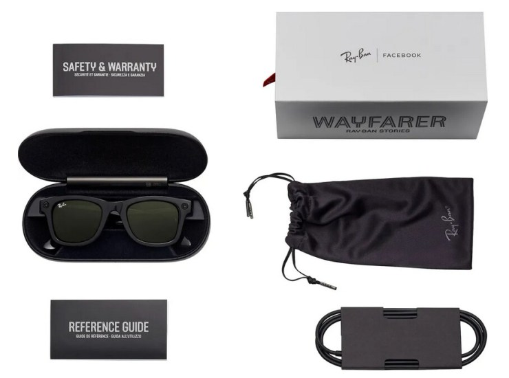 Rayb-Ban's Stories box contents - Here are Facebook and Ray-Ban's smart glasses, presumably going official today