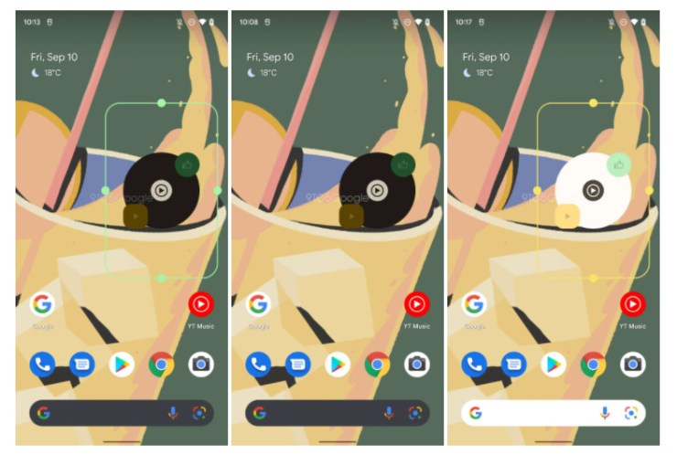 Image source - 9to5Google - YouTube Music widget is getting the Material You treatment