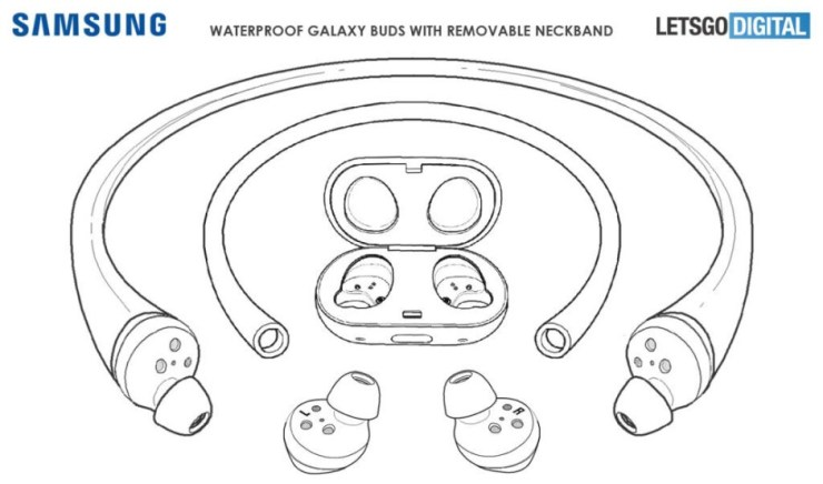 Samsung patents new swim-oriented Galaxy Buds with waterproof design