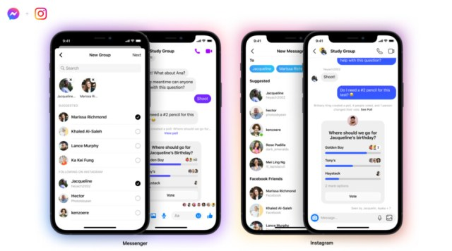 Messenger and Instagram are now BFFs - Facebook Messenger and Instagram now support cross-app group chats