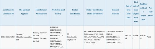 Alleged Galaxy S21 FE charger has been certified