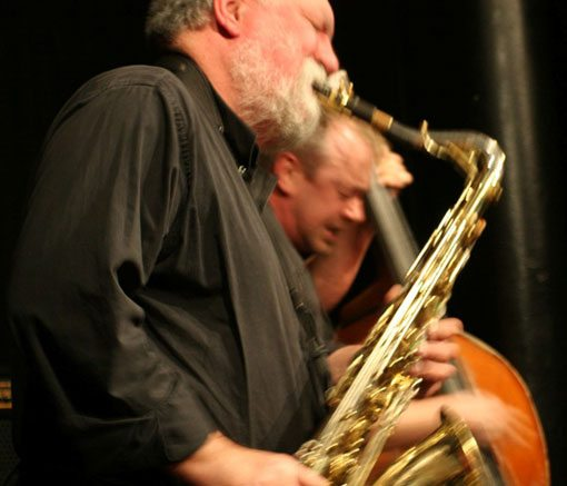 Evan Parker & John Edwards | Photo by Tim Owen