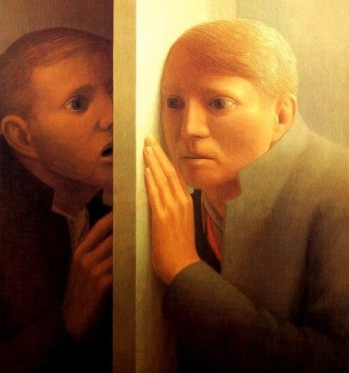 Painting by George Clair Tooker, Jr. (1920 - 2011)