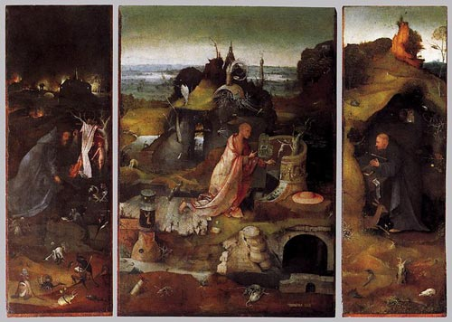 Hieronymus Bosch - Hermit Saints Triptych - click the image to enlarge...