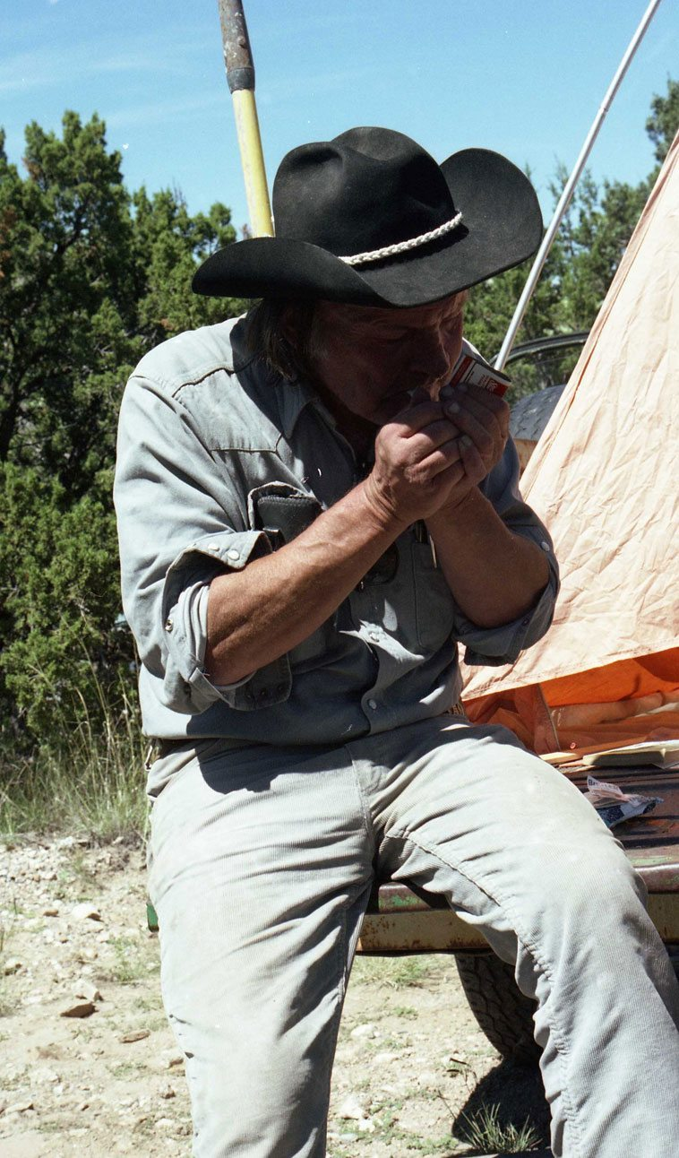 Kell Robertson's camp -- Placitas, New Mexico -- September 8, 1994 -- photo by Mark Weber