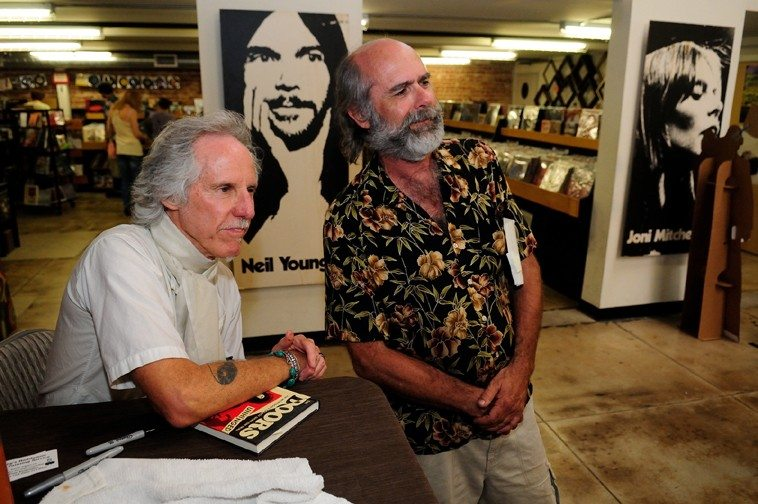 Fred Voss with John Densmore of the DOORS -- June 1, 2013 @ Fingerprints Music, Long Beach, California