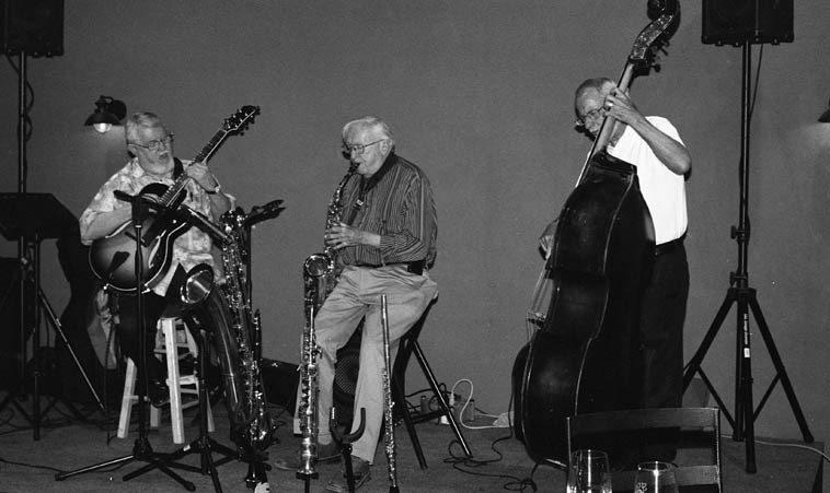 Bill West, guitar; Arlen Asher, woodwinds; Rick Fairbanks, bass ------ June 14, 2o14 -- photo by Mark Weber