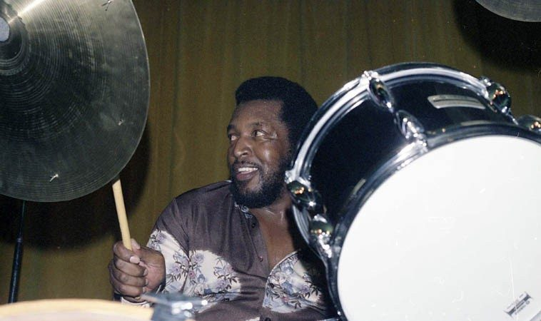 Larance Marable was born and lived his entire 83 years in Los Angeles (d. July 4, 2o12) working and  recording with everyone from Bird to Dexter to Chet, Zoot, Hampton Hawes, Teddy Edwards, Charlie  Haden, etCetEra . . .  photo by Mark Weber -- June 10, 1979