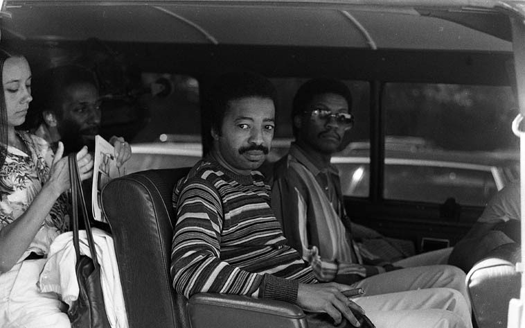 Ron Carter, Tony Williams, Herbie Hancock -- June 20, 1981 -- photo by Mark Weber ---- the music  that these guys made with Miles is for the ages