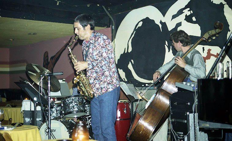 Art Pepper Quartet (Bob Magnussen, bass) at Donte's -- April 27, 1977 -- photo by Mark Weber