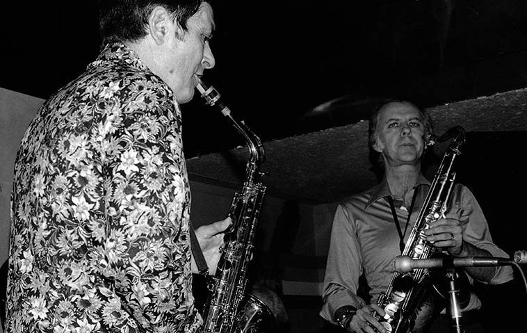 Art Pepper & Warne Marsh at Donte's -- January 26, 1977 -- photo by Mark Weber
