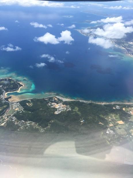 沖縄上空写真