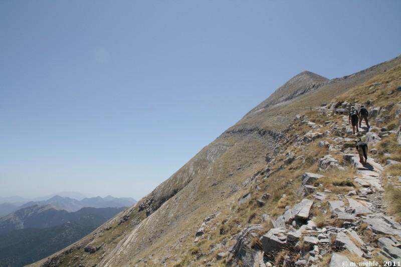 Zum Gipfel des Profitis Ilias (2404)