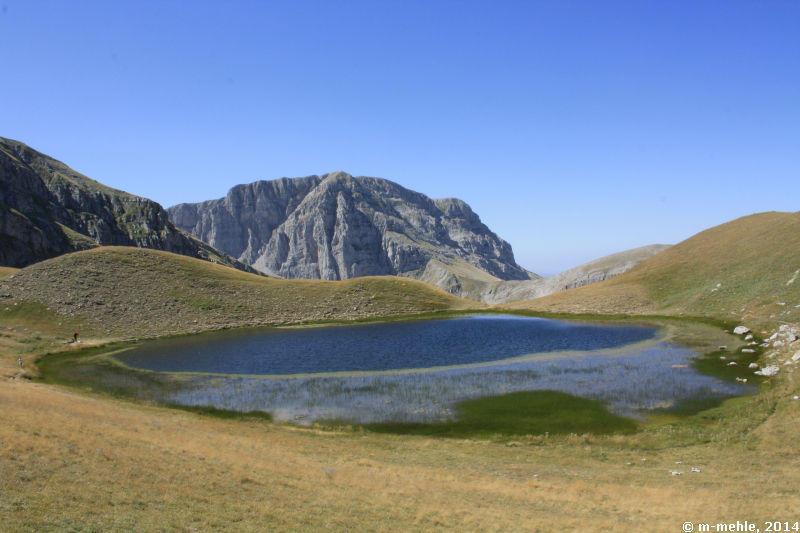 Blick über den Drachensee, Epirus
