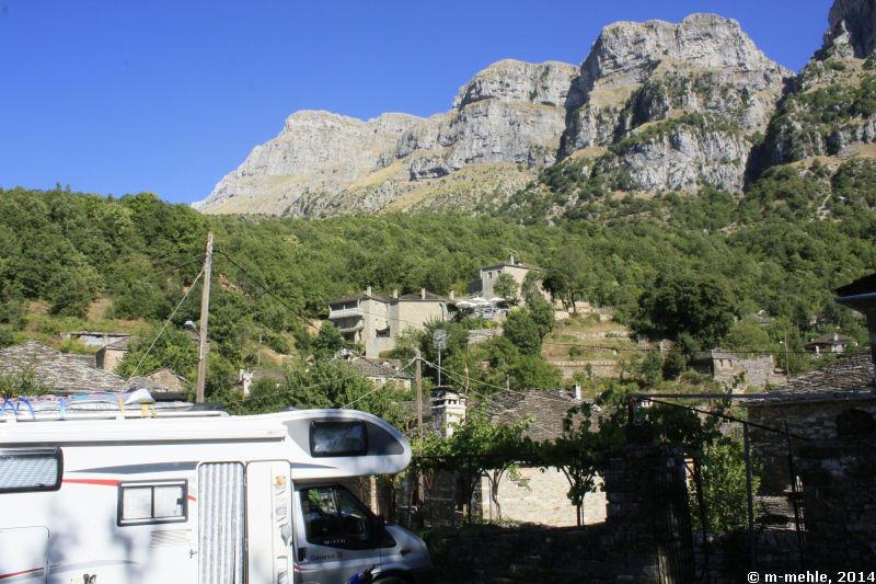 Blick auf Mikro Papigno, Epirus