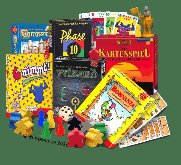 Auswahl unserer beliebtesten Spiele, hier Bohnanza