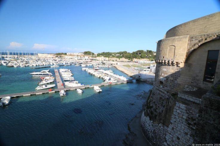 Blick auf den Hafen von Otranto