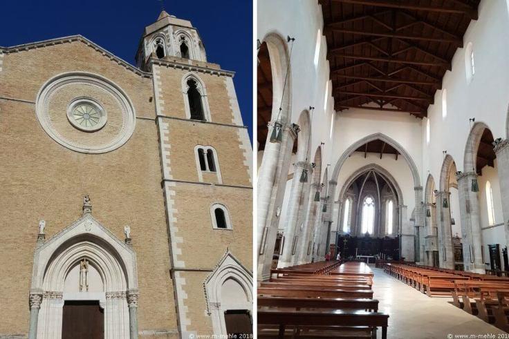 Frontansicht und mittleres Kirchenschiff der Kathedrale Santa Maria Assunta