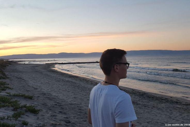 Sonnenuntergang bei Zapponeta