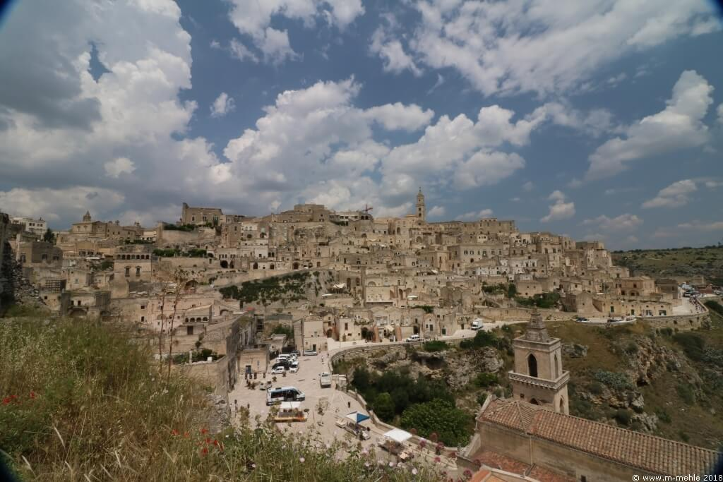 Blick über die Sassi von Matera