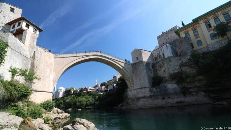 Mostar, Stari Most, Bosnien - Herzegowina