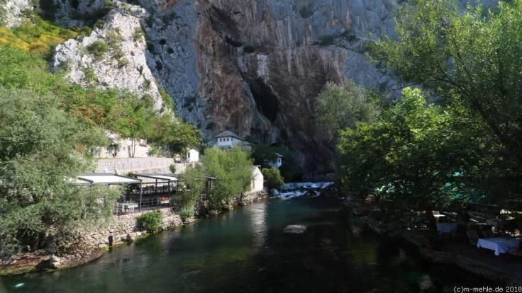 Quelle der Buna und das Derwisch Kloster Tekke, Bosnien - Herzegowina