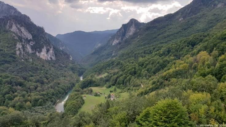Blick in das Tal der Tara, Montenegro